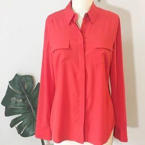Ann Taylor • Silk Camp Shirt